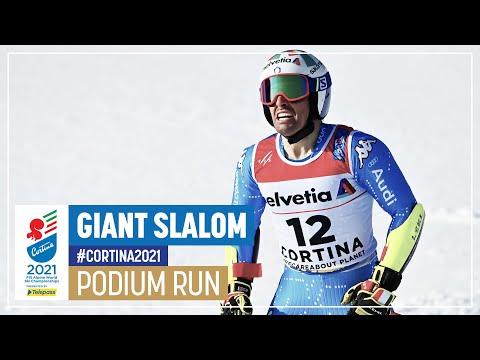 Luca De Aliprandini   Silver   Men's Giant Slalom   2021 FIS World Alpine Ski Championships